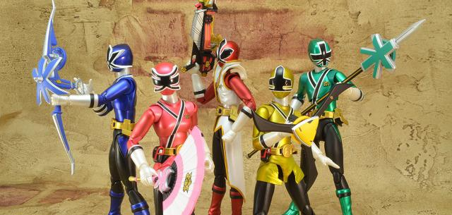 Power Rangers Super Samurai Metallic Coating Deluxe Action Figure Set