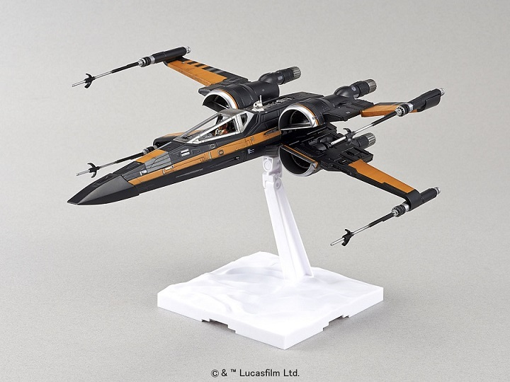 Poe's X wing model kit from Bandai