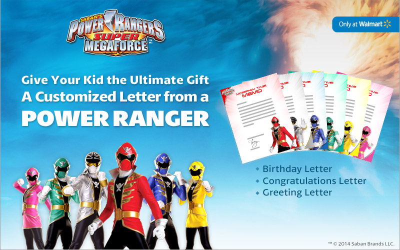 Send A Child A Letter From A Power Ranger Courtesy Of Saban And