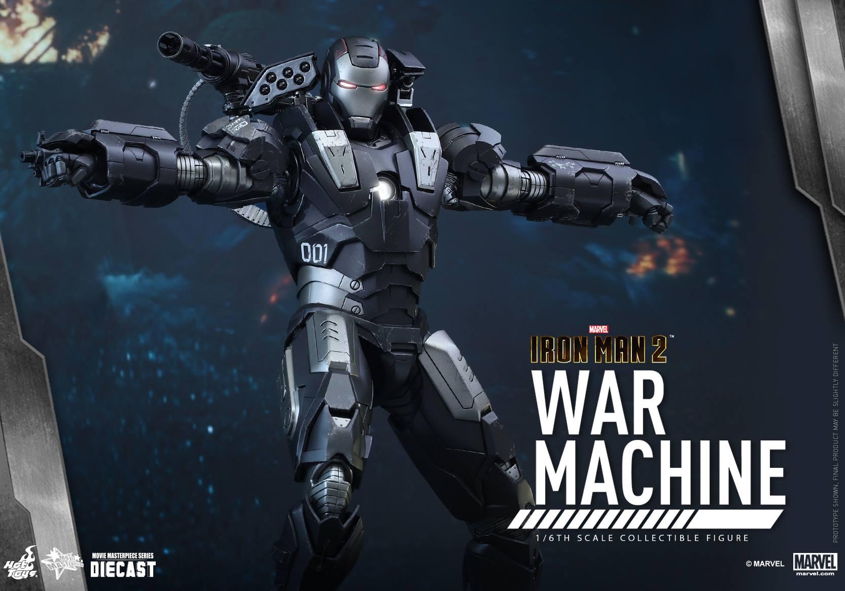 Hot Toys Diecast War Machine from Iron Man 2 | CollectionDX