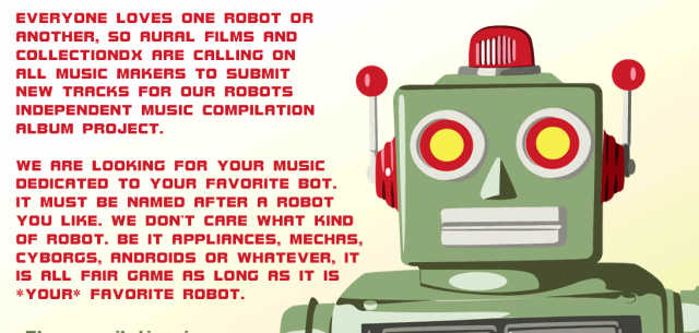 Robots independent music compilation album from Aural Films and CollectionDX