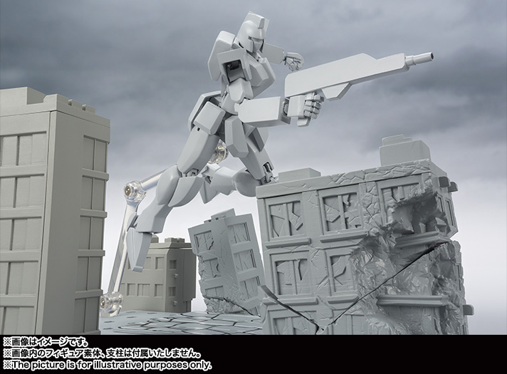 Tamashii OPTION ACT BUILDING DAMAGE Ver Base for Action Figure BANDAI NEW Japan