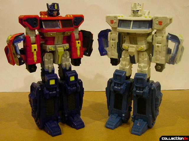 Autobots Optimus Prime (left) and Ultra Magnus (right) both in robot mode (front)