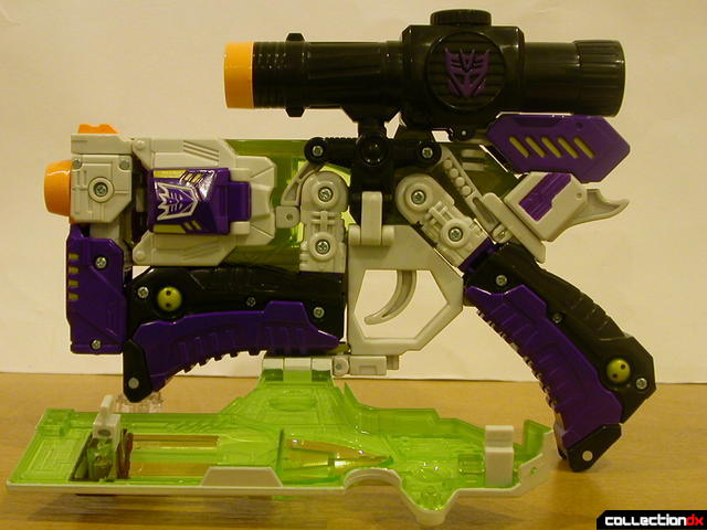 Decepticon Megatron- blaster mode (left cover open)