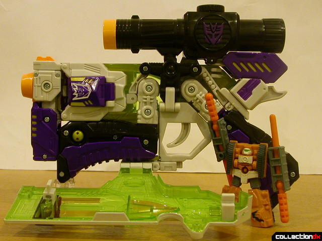 Decepticon Megatron- blaster mode (notice the four bullets)