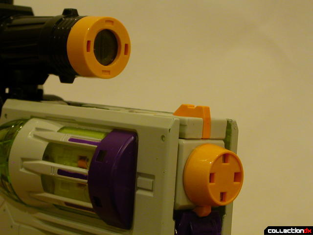 Decepticon Megatron- blaster mode (orange safety caps detail)