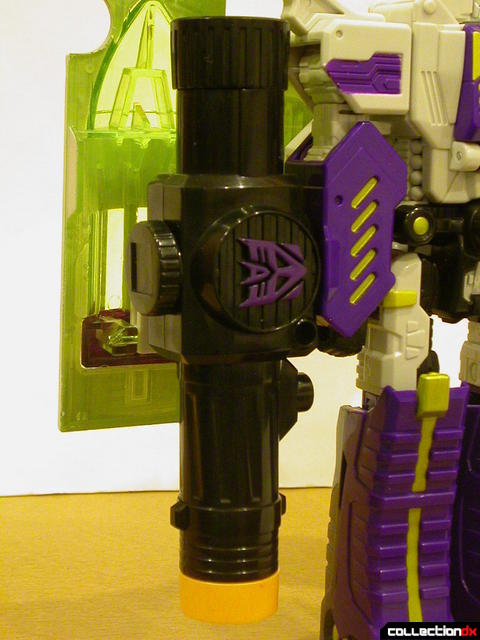 Decepticon Megatron- robot mode (right arm detail)