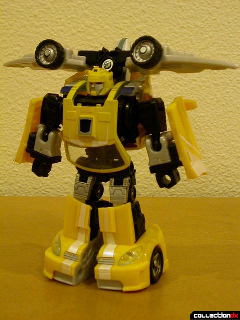 Autobot Bumblebee- robot mode, with Wave Crusher attached(front)
