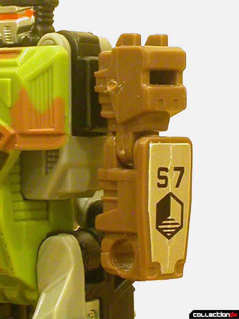 Autobot Signal Flare- robot mode (left arm detail)