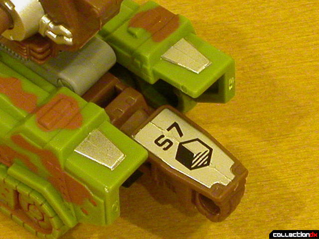 Autobot Signal Flare- vehicle mode (close-up, Sector 7 logo)