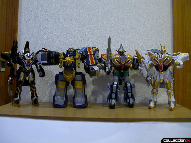 (from left to right)- DX WolKaiser, DX Travelion, DX MagiKing, and DX Saint Kaiser