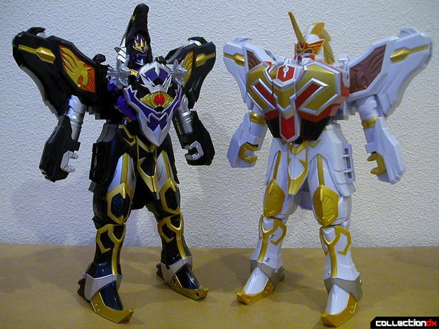 DX WolKaiser (left) and DX Saint Kaiser (right)