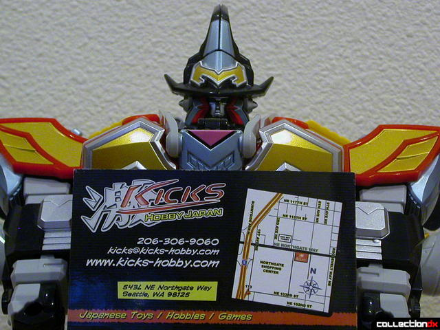 MagiKing with Kicks-Hobby Japan card (back)