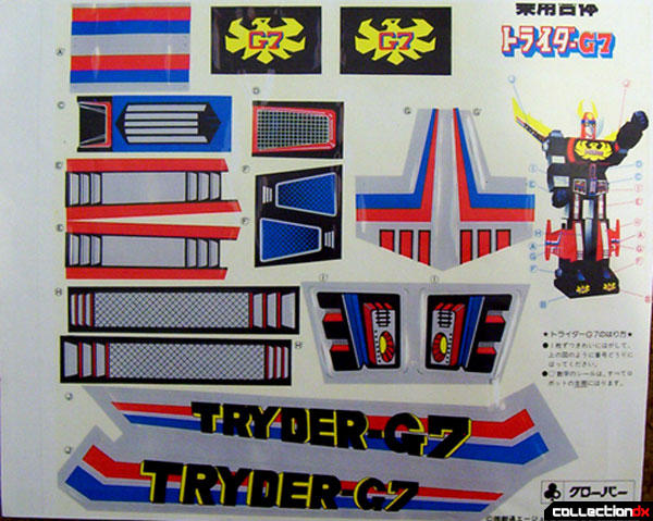 Tryder G7 Sticker Sheet