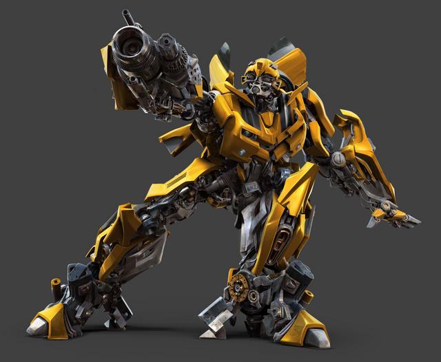 CGI character- Bumblebee (with arm cannon deployed)
