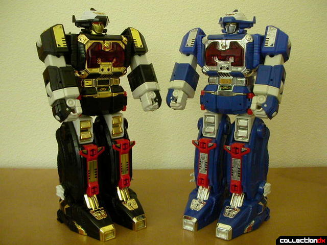 Astro Galactic Megazord (left) and Astro Megazord (right)- both in Megazord Mode
