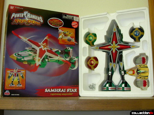 Deluxe Samurai Star Lightning Megazord (box cover and styrofoam tray)