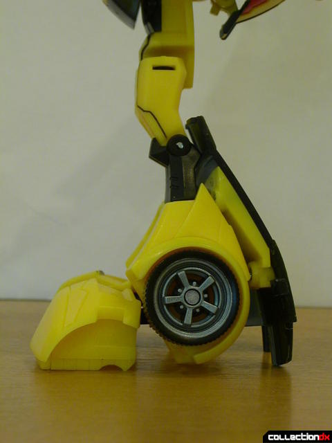 Autobot Bumblebee- robot mode (legs detail, left side view)
