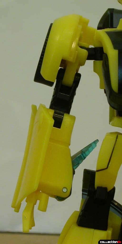 Autobot Bumblebee- robot mode (right arm detail)