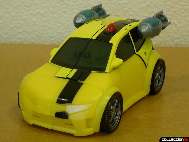 Autobot Bumblebee- vehicle mode (front view, with rocket boosters attached)