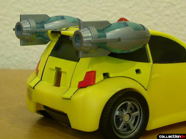 Autobot Bumblebee- vehicle mode (rocket boosters attached)