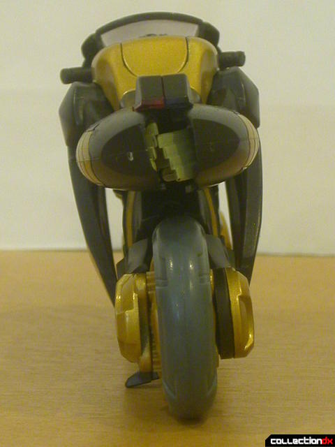 Autobot Prowl- vehicle mode (back view, notice the misaligned hands)