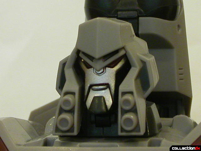 Decepticon Megatron- robot mode (head detail, alt. angle)
