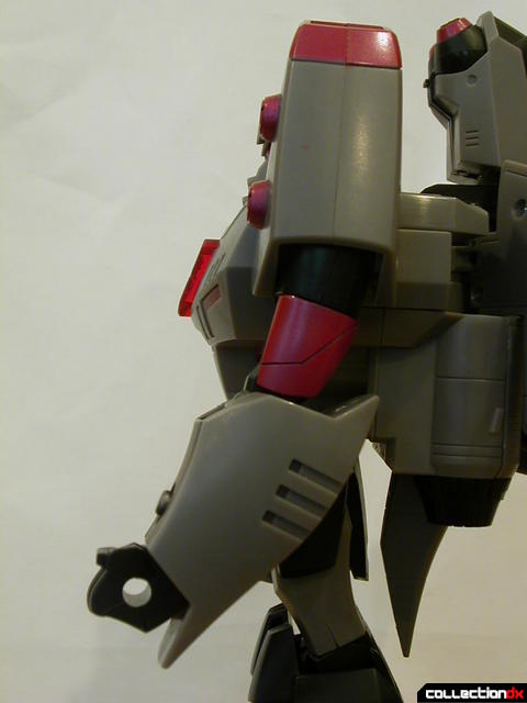 Decepticon Megatron- robot mode (left arm detail, elbow pointed backwards)