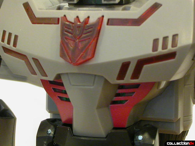 Decepticon Megatron- robot mode (torso detail, close-up)