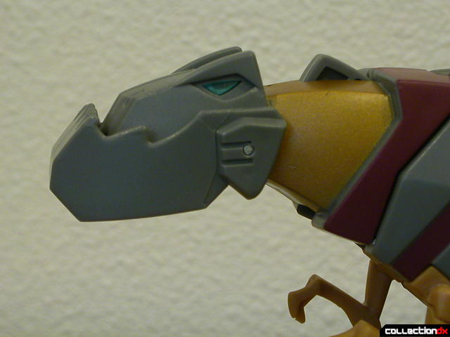 Dinobot Grimlock- beast mode (mouth closed, see button on top of neck)