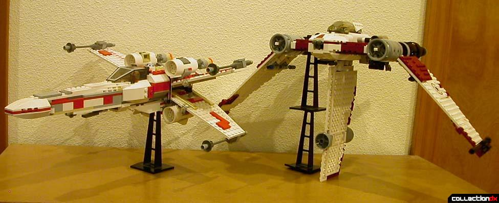 X-Wing Fighter (left, 6212) and V-19 Torrent (right, 7674)