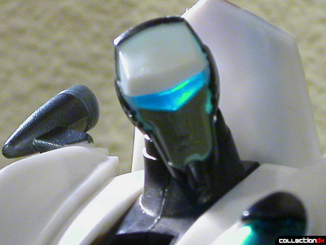 Autobot Jazz- robot mode (head detail, lit from behind)