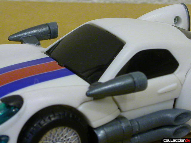 Autobot Jazz- vehicle mode (side mirrors and windows detail)