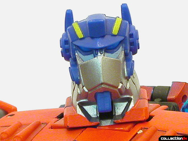 Autobot Optimus Prime- robot mode (head detail, faceplate raised)