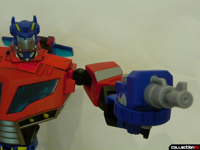 Autobot Optimus Prime- robot mode (holding Water Cannon)