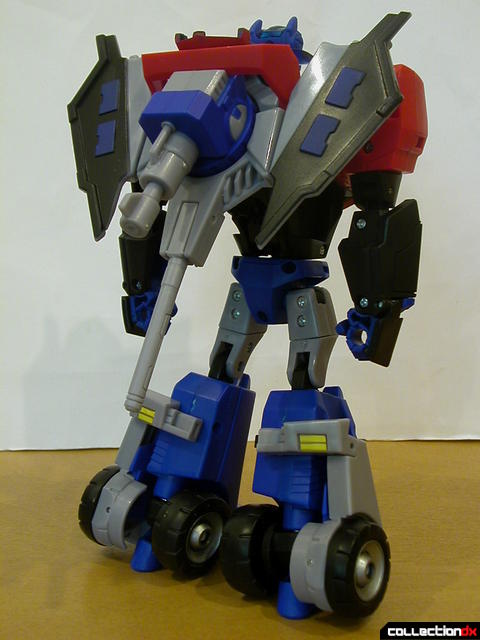 Autobot Optimus Prime- robot mode (Ion Ax with Water Cannon attached to back)