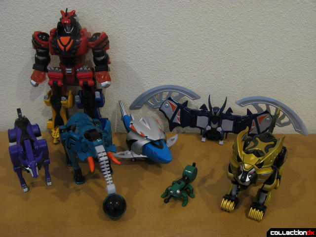 Transforming Fury Megazord Set (arranged with Jungle Pride Megazord)