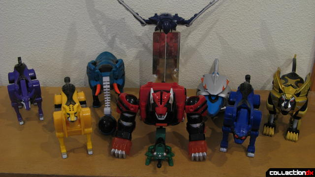 Transforming Fury Megazord Set- all Spirit Zords together (1)