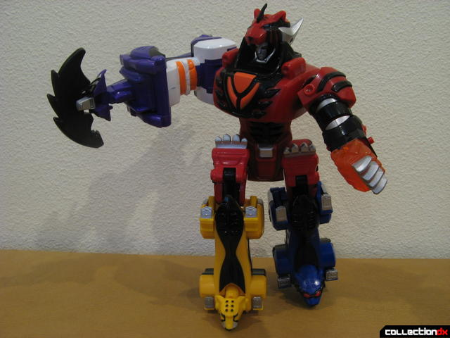 Transforming Fury Megazord Set- Jungle Pride Megazord posed (with Wolf arm attached)