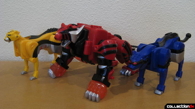 Transforming Fury Megazord Set- Tiger, Cheetah, and Jaguar posed together