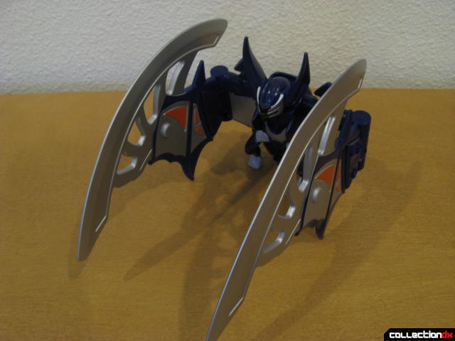 Transforming Fury Megazord Set- Violet Bat (wings folded forward)