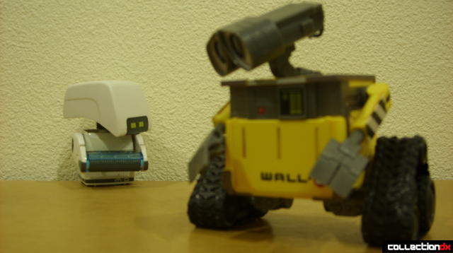 Clean-N-Go M-O (L) and U-Repair WALL-E (R)(forced perspective view, to movie-scale)