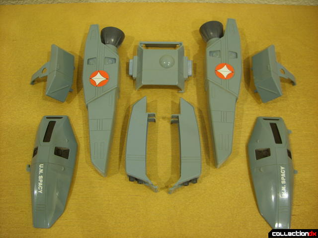 VF-1S Super Valkyrie - FAST Pack accessory armor (all, separated)