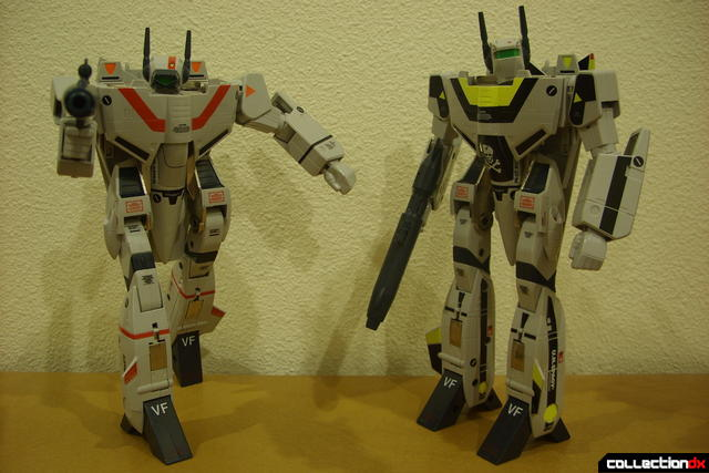 Origin of Valkyrie VF-1J (R) and VF-1S (L) in Battroid Mode (posed)