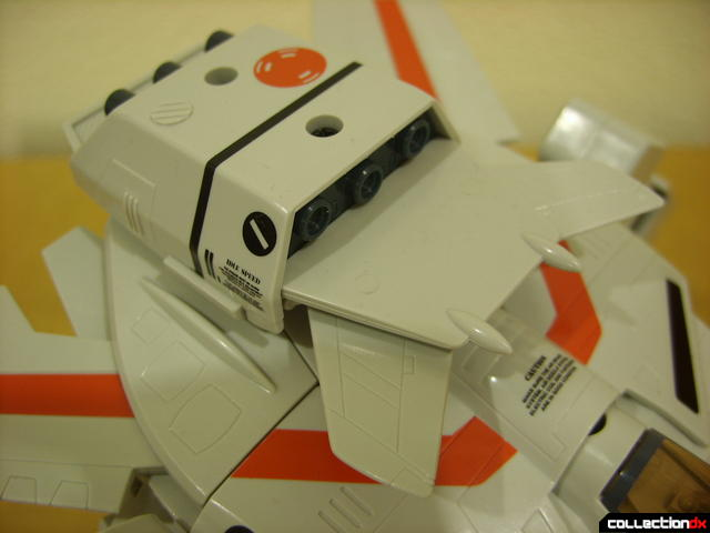 Origin of Valkyrie VF-1J Valkyrie- GERWALK Mode (dorsal thruster pack detail)