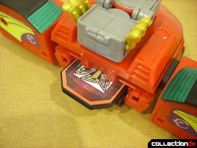 High Octane Megazord- Eagle Racer Zord Attack Vehicle (with red Engine Cell inserted)