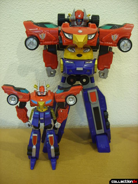 Retrofire (L) and Dlx. High Octane Megazord (R)