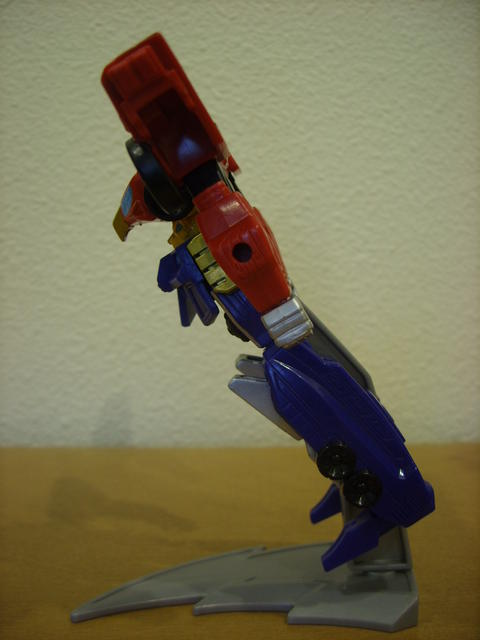 Retrofire High Octane Megazord (showing angle of display stand arm)