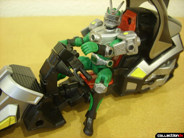 Kamen Rider Blank Knight with Advent Cycle (Kamen Rider Torque getting up)
