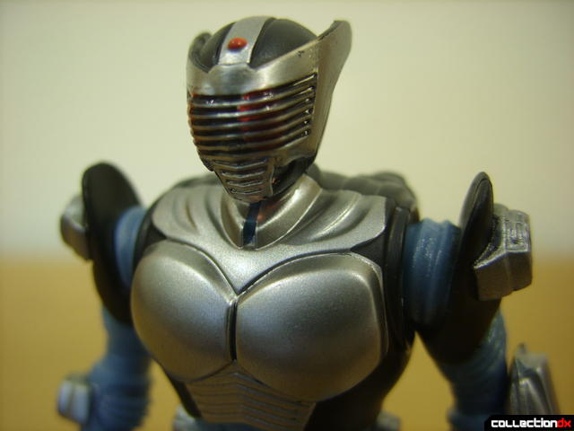 Kamen Rider Blank Knight with Advent Cycle- figure detail (head, normal)